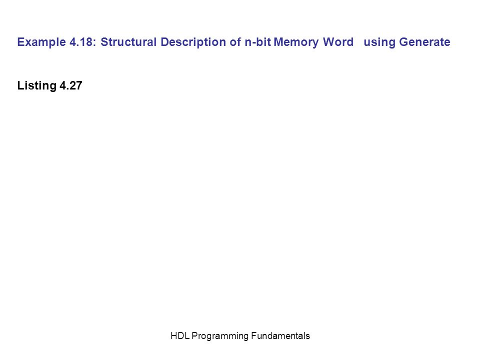 HDL Programming Fundamentals