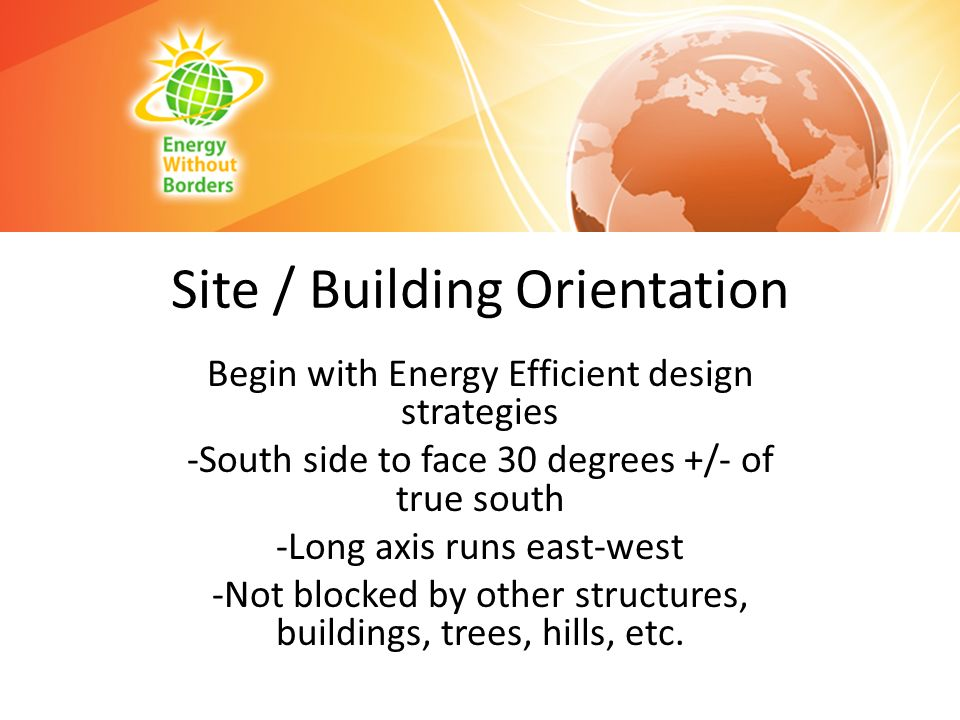 Site / Building Orientation