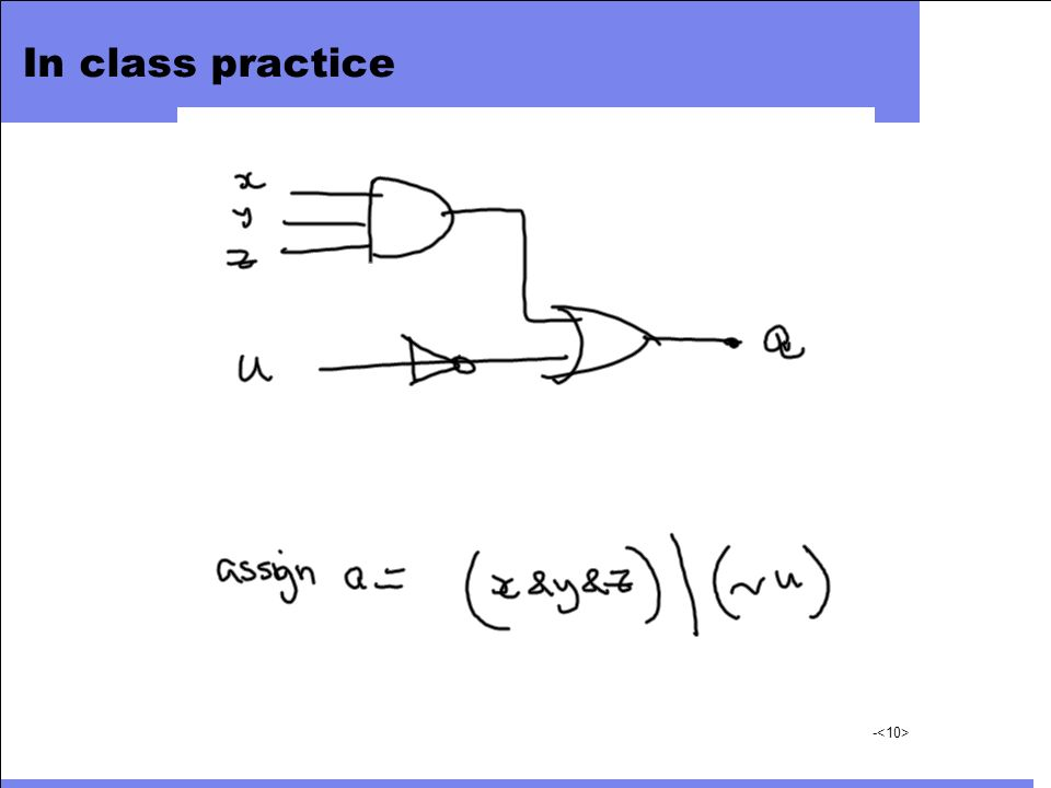 In class practice
