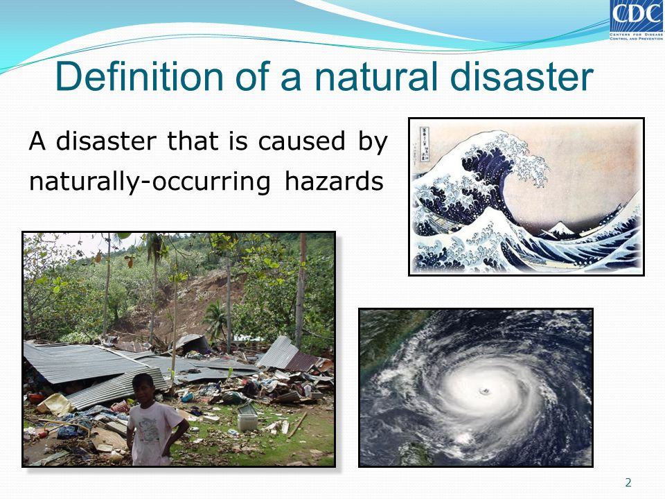 Definition of a natural disaster