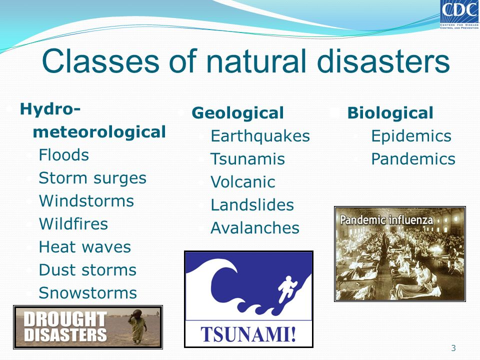 Classes Of Natural Disasters