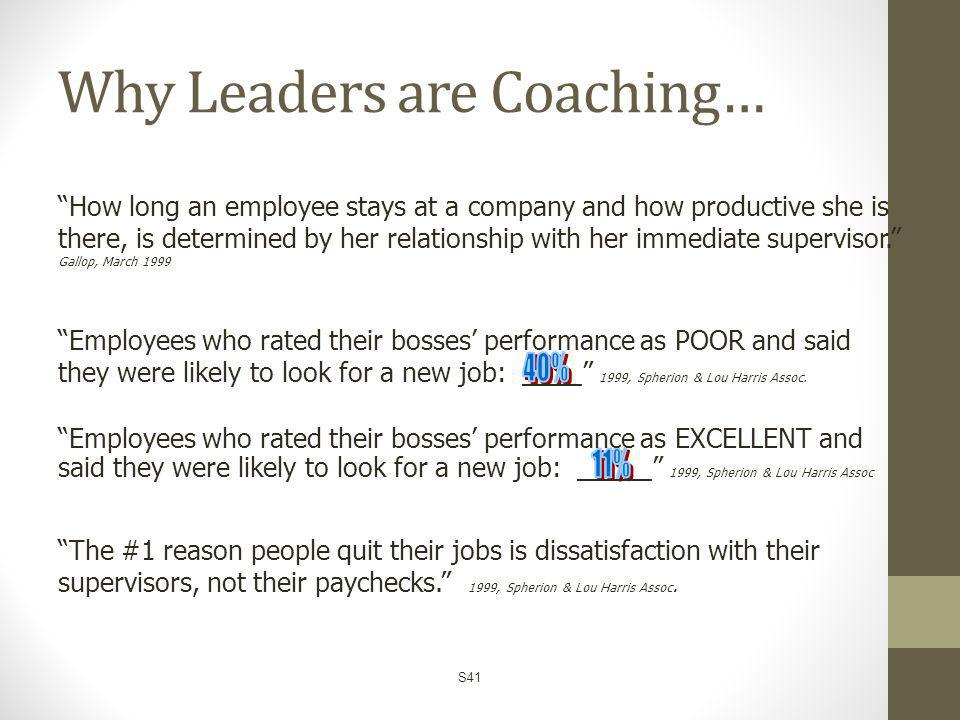 Why Leaders are Coaching…