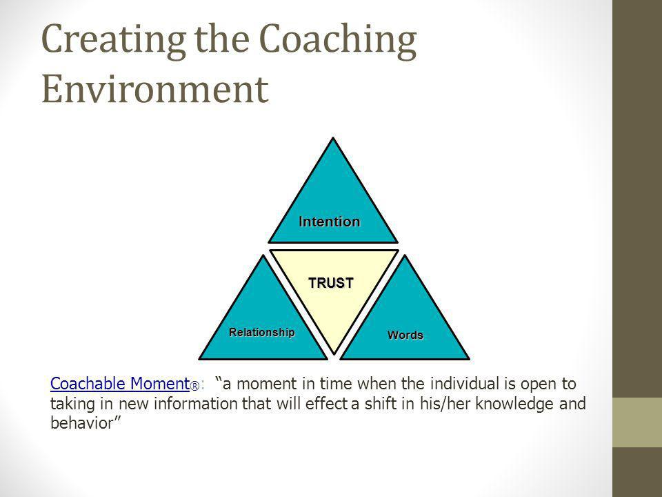 Creating the Coaching Environment