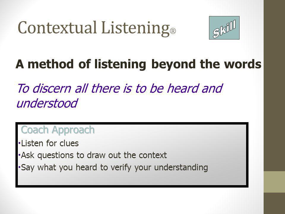 Contextual Listening®