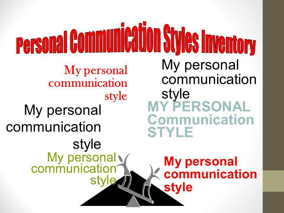 Personal Communication Styles Inventory