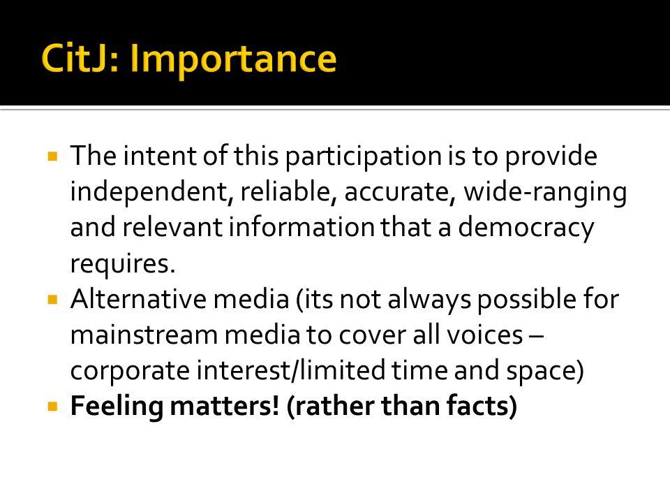 CitJ: Importance