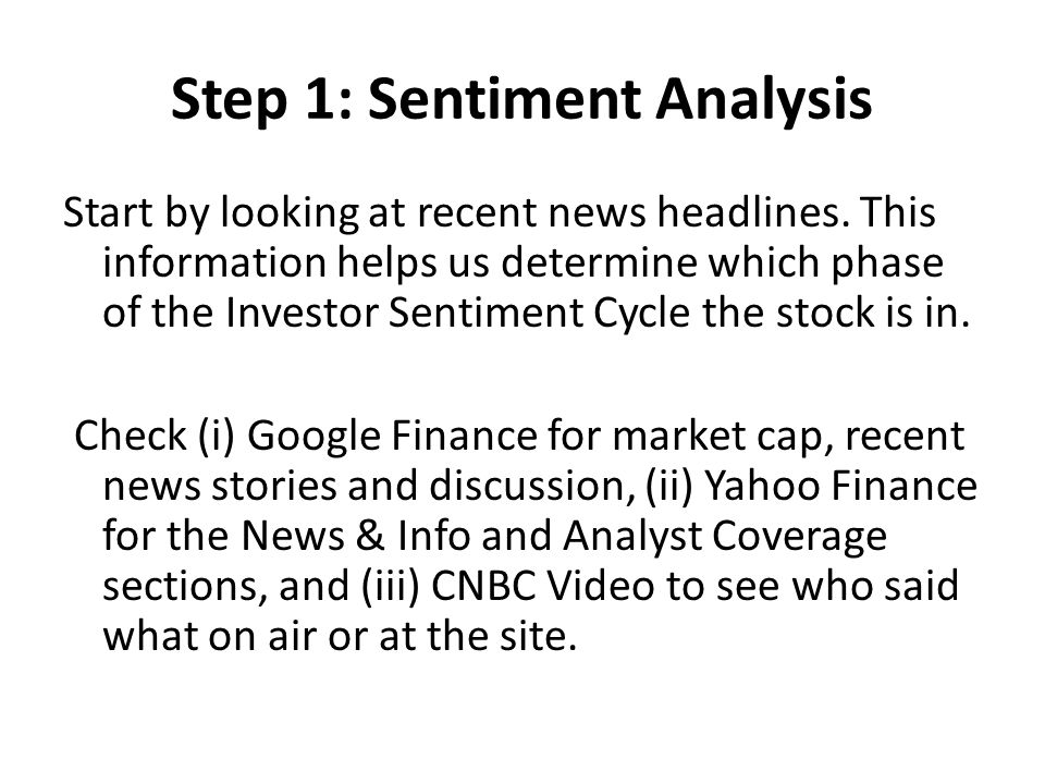 Step 1: Sentiment Analysis