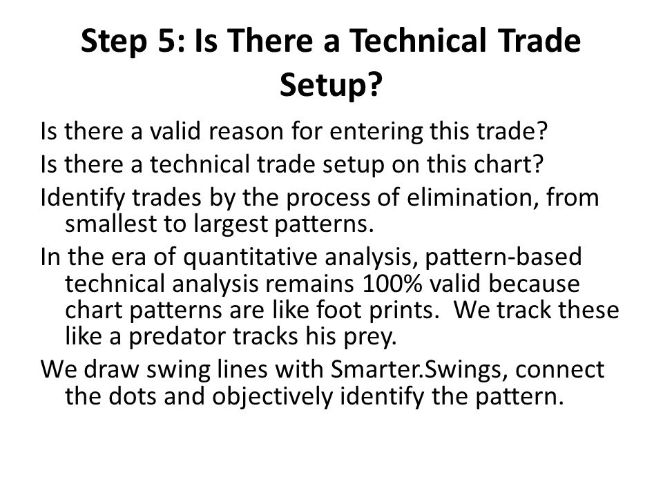 Step 5: Is There a Technical Trade Setup