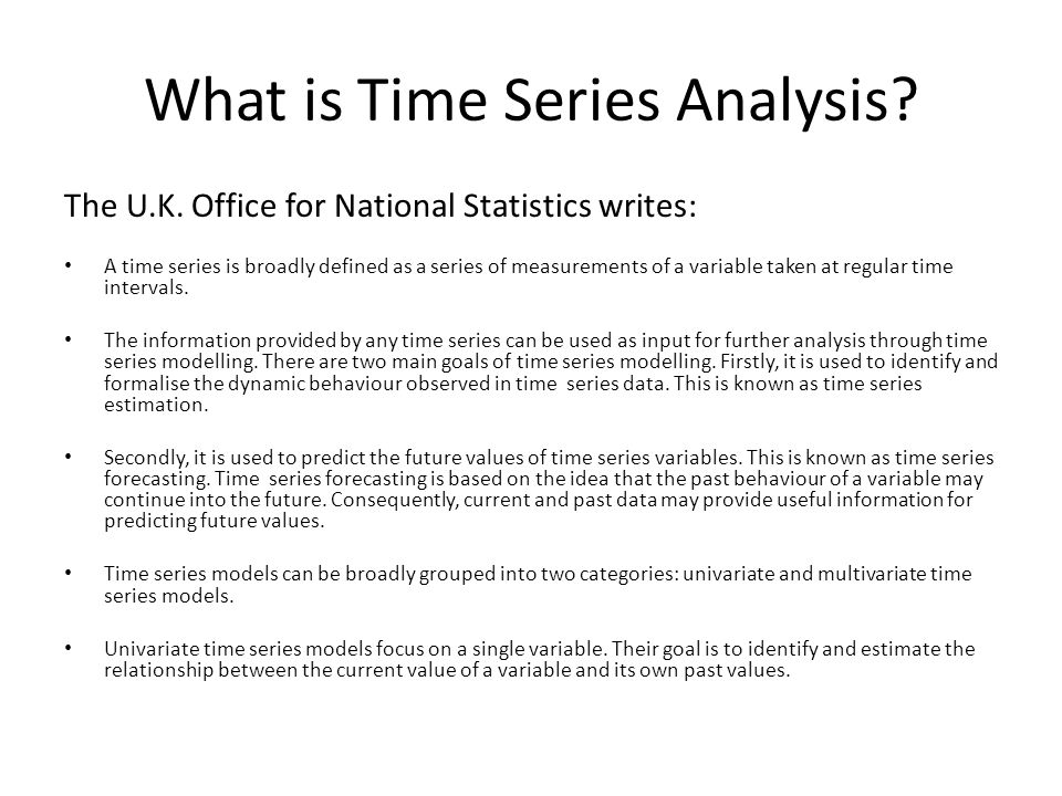 What is Time Series Analysis
