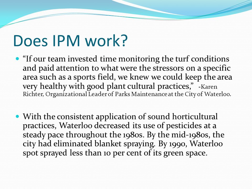 Does IPM work