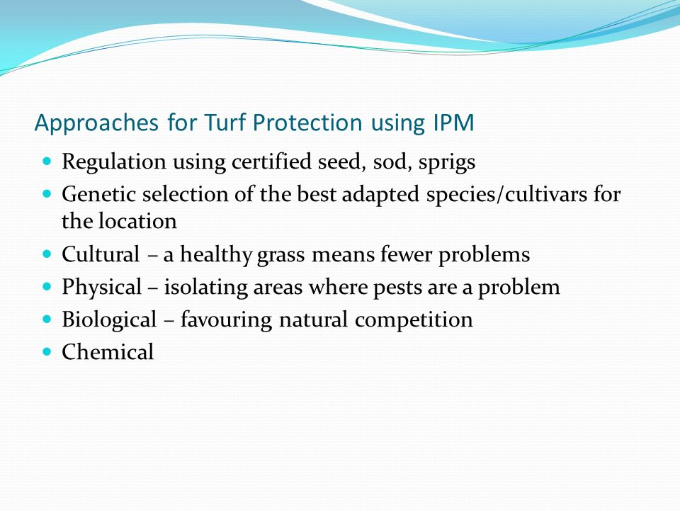 Approaches for Turf Protection using IPM