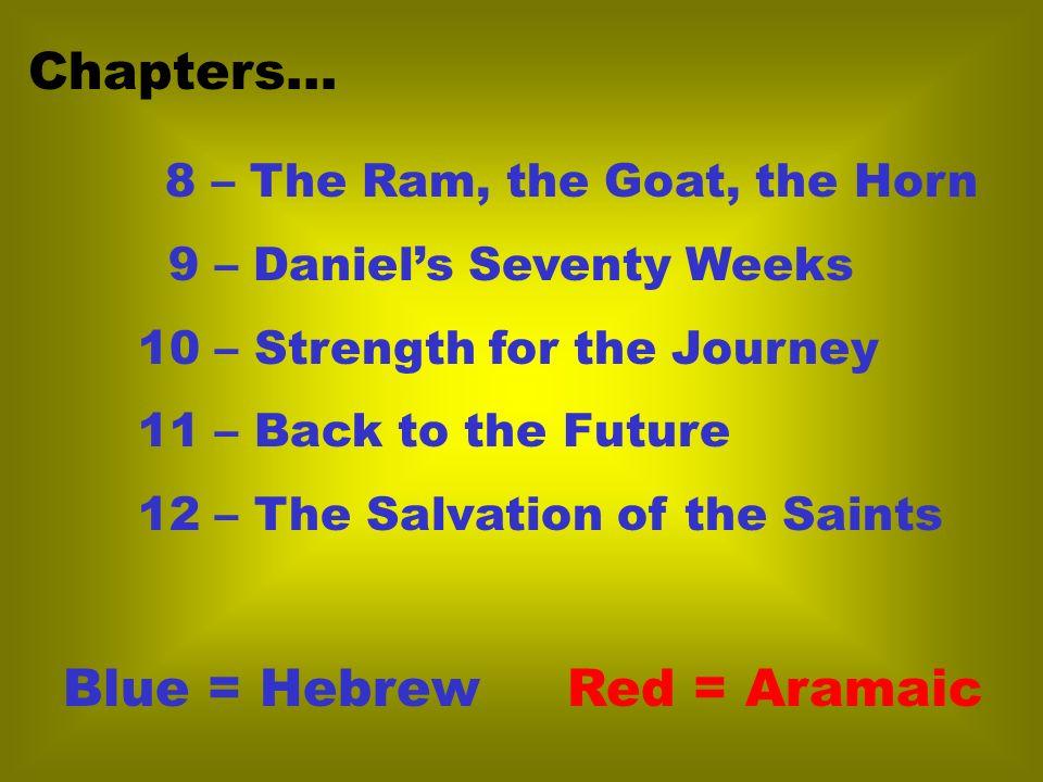 Blue = Hebrew Red = Aramaic