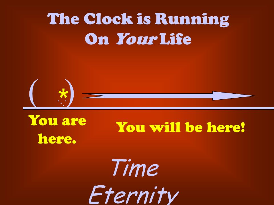 The Clock is Running On Your Life