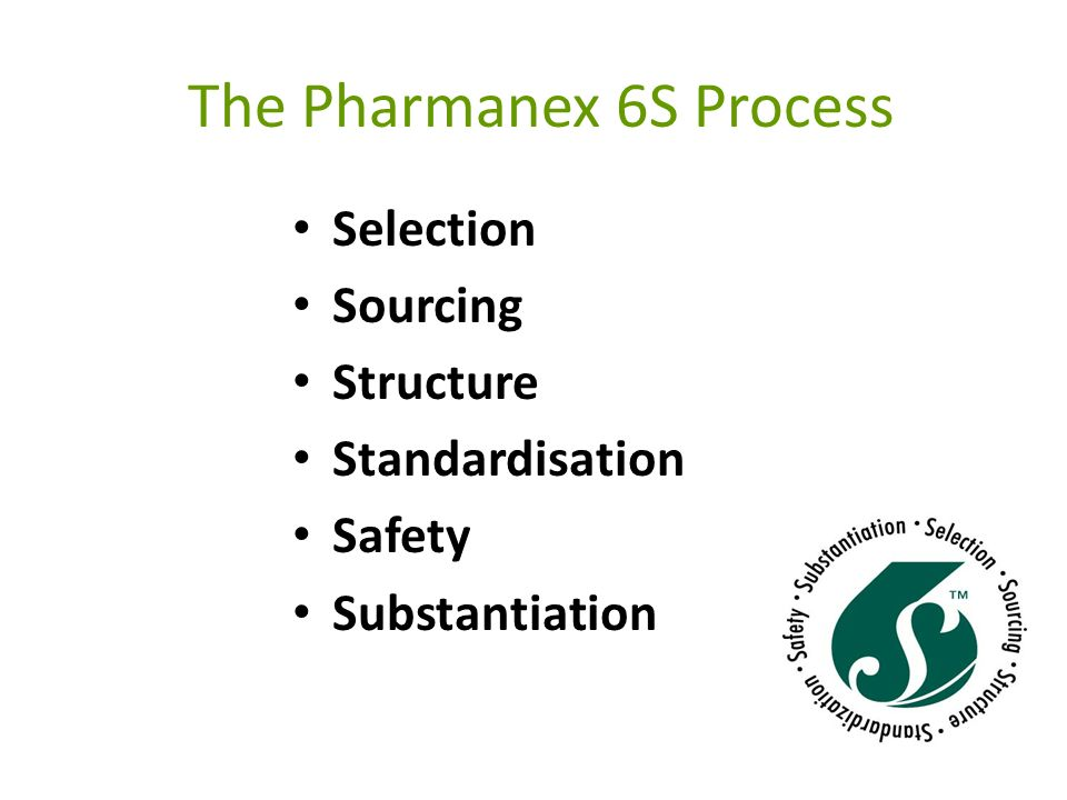 The Pharmanex 6S Process
