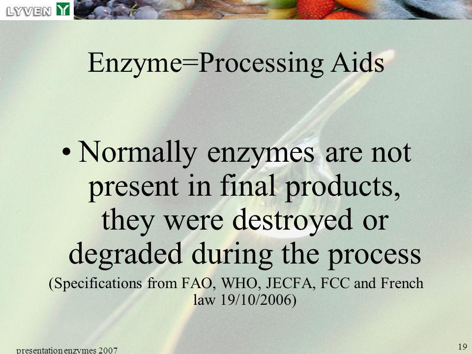 Enzyme=Processing Aids