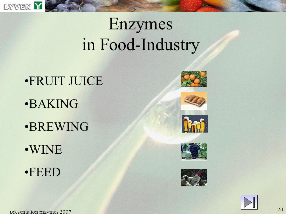 Enzymes in Food-Industry
