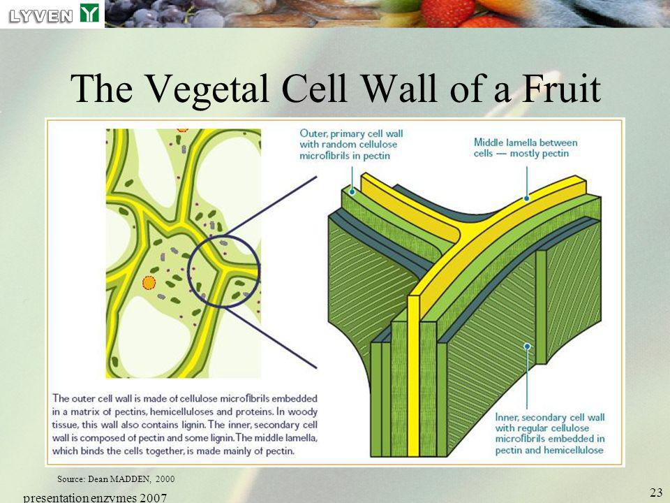 The Vegetal Cell Wall of a Fruit