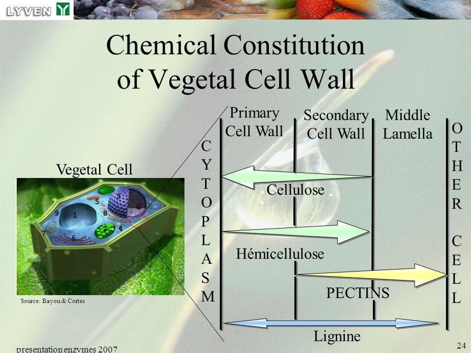 Chemical Constitution of Vegetal Cell Wall