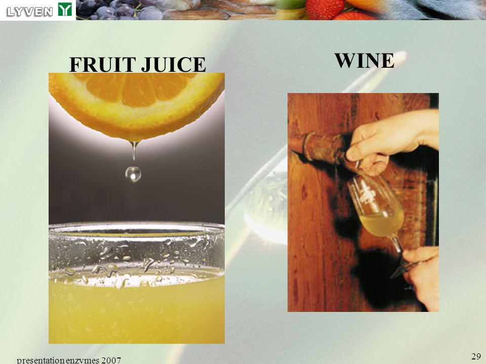 LYVEN WINE FRUIT JUICE presentation enzymes 2007 Enzymes PRESENTATION
