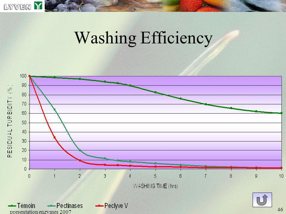 Washing Efficiency presentation enzymes 2007 LYVEN