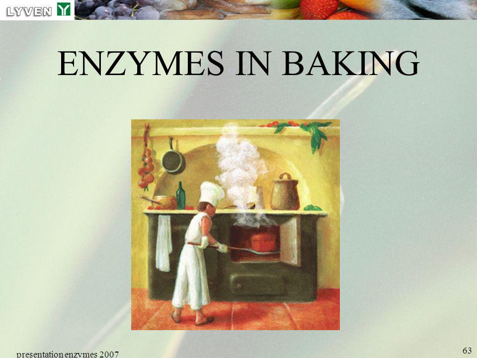 LYVEN ENZYMES IN BAKING presentation enzymes 2007 Enzymes PRESENTATION