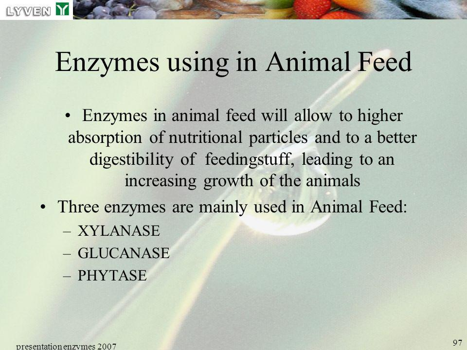 Enzymes using in Animal Feed