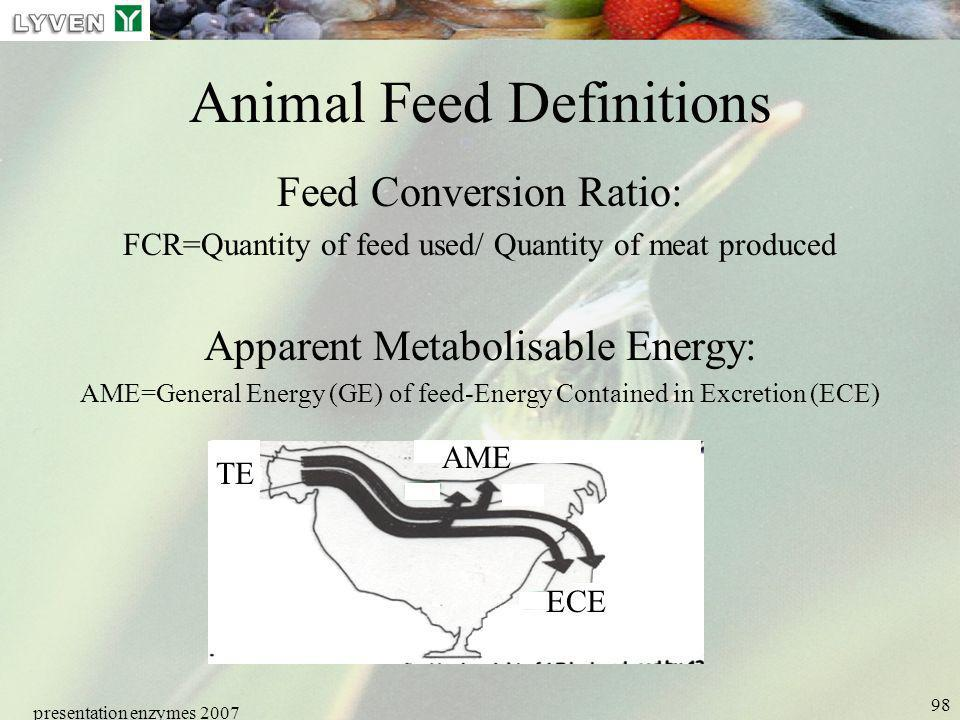 Animal Feed Definitions