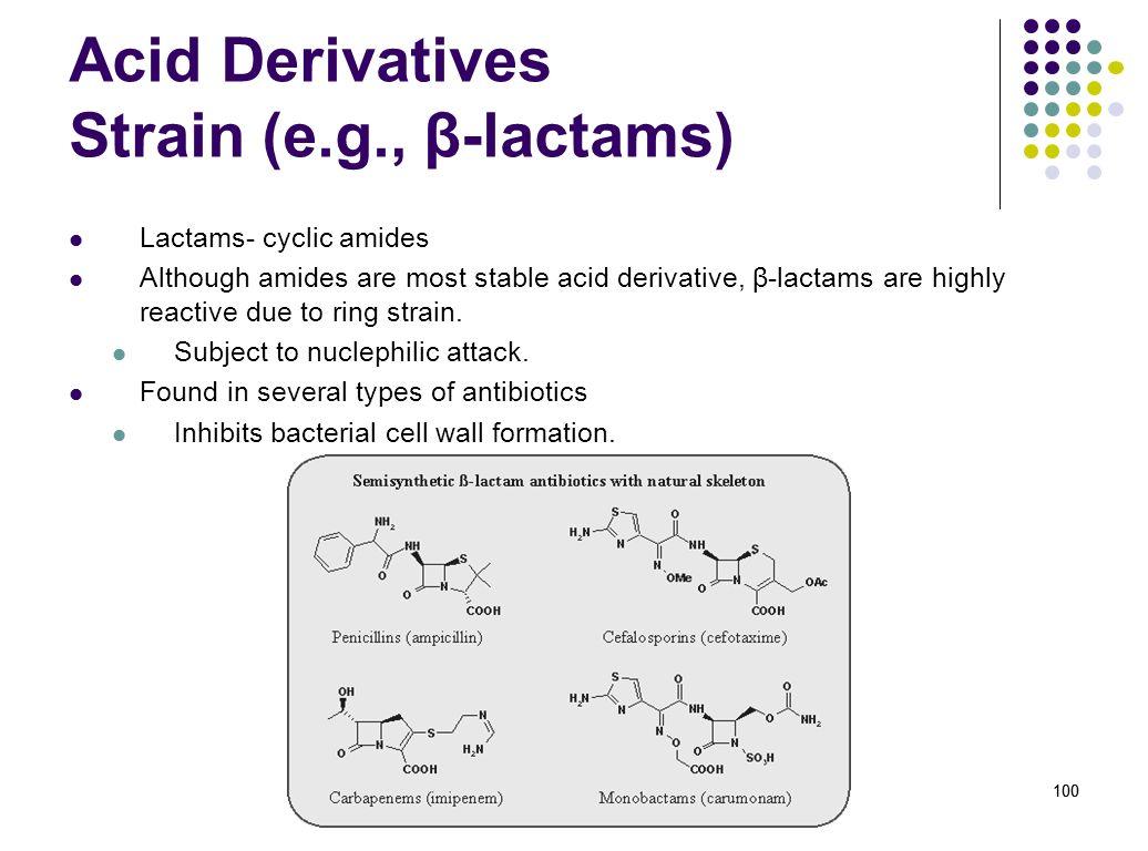 Acid Derivatives Strain (e.g., β-lactams)