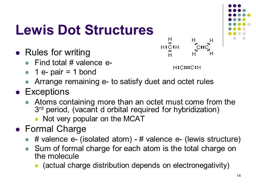 Lewis Dot Structures Rules for writing Exceptions Formal Charge