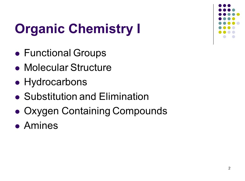 Organic Chemistry I Functional Groups Molecular Structure Hydrocarbons