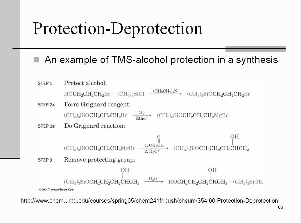 http://www.chem.umd.edu/courses/spring05/chem241fribush/chsum/354,60,Protection-Deprotection 56