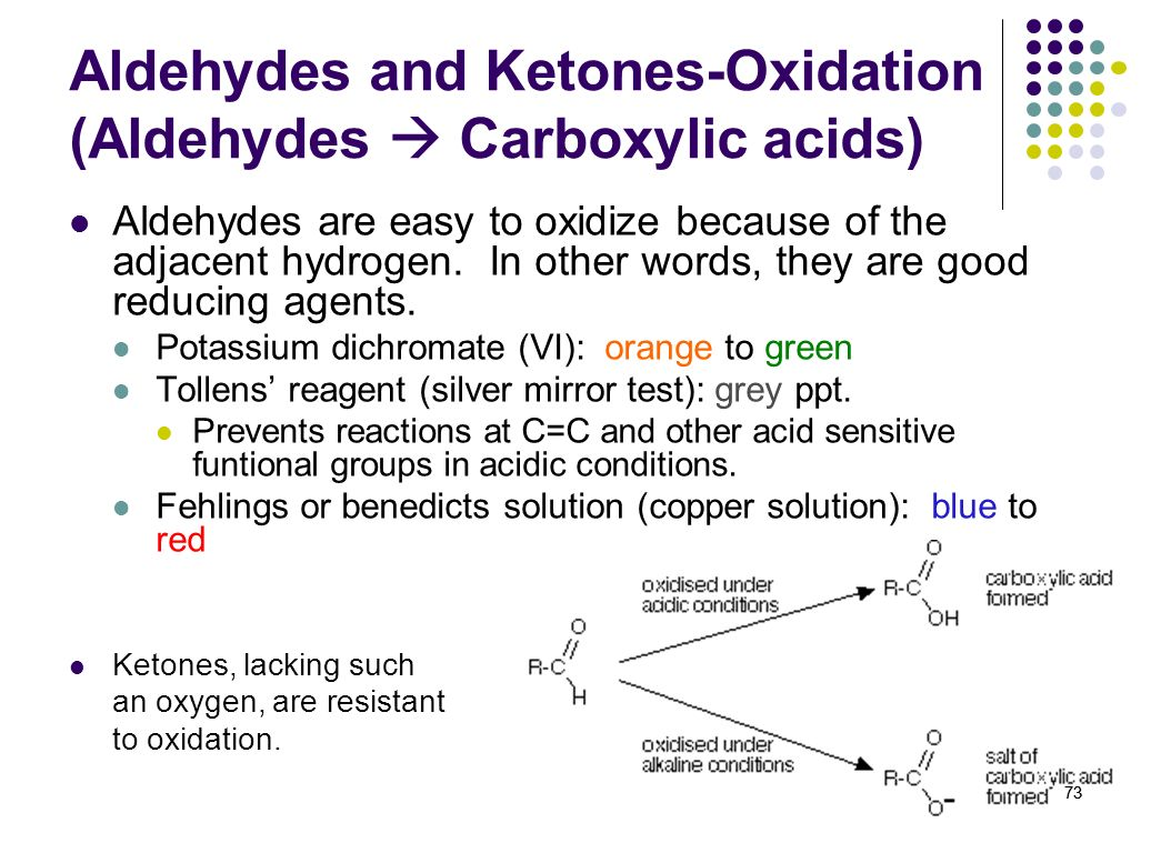 Aldehydes and Ketones-Oxidation (Aldehydes  Carboxylic acids)