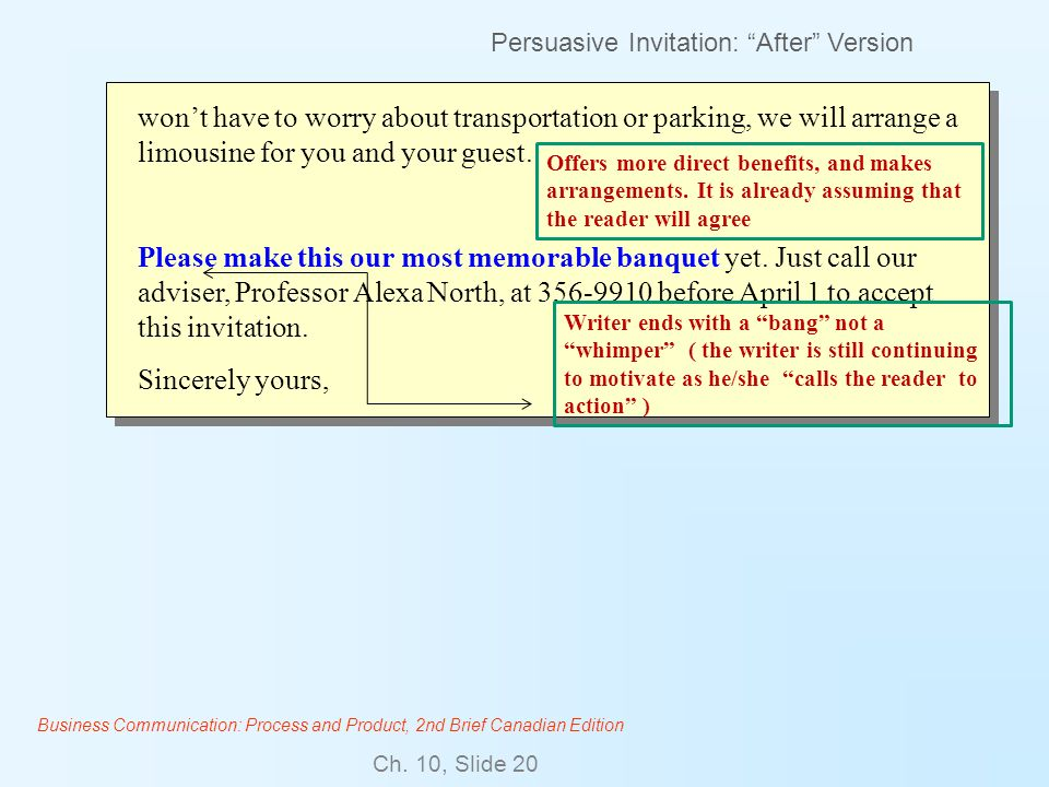 Persuasive Invitation: After Version
