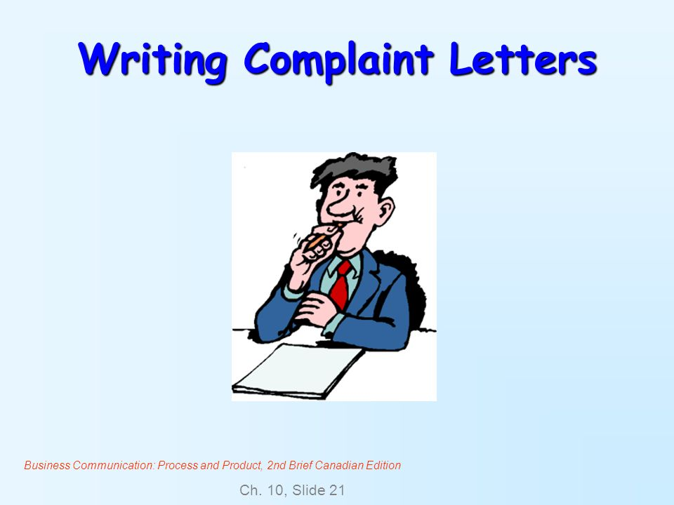 Writing Complaint Letters