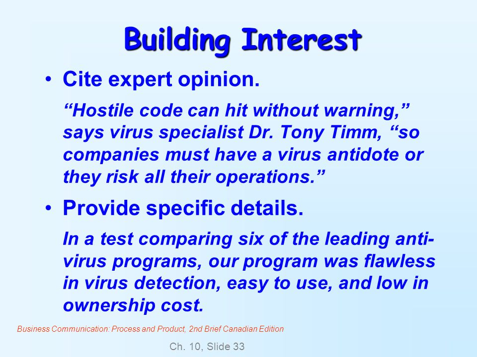 Building Interest Cite expert opinion. Provide specific details.