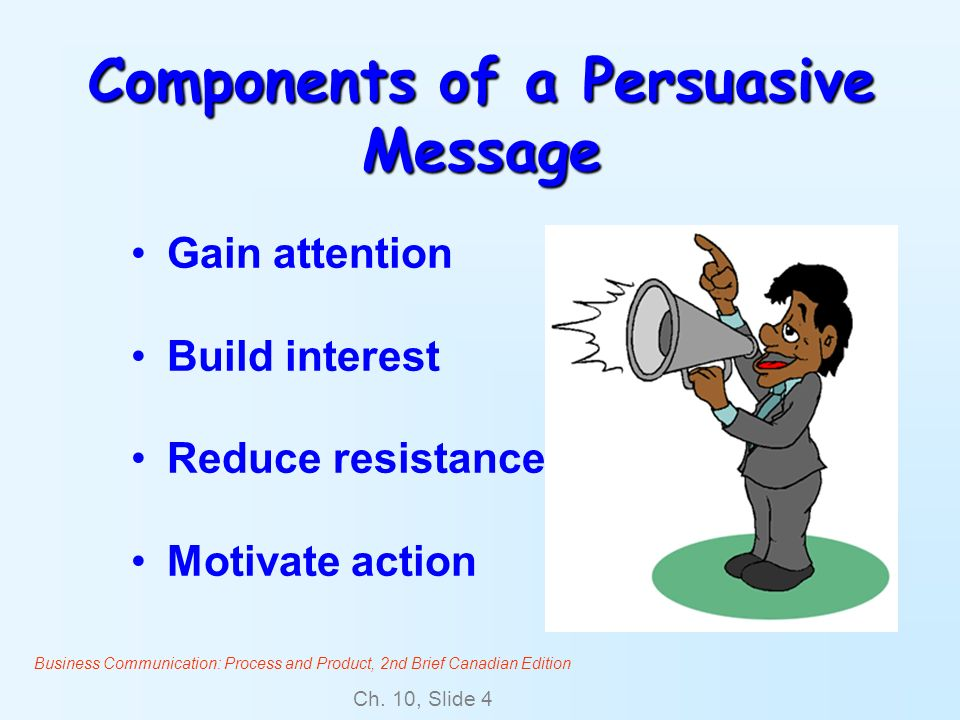 Components of a Persuasive Message