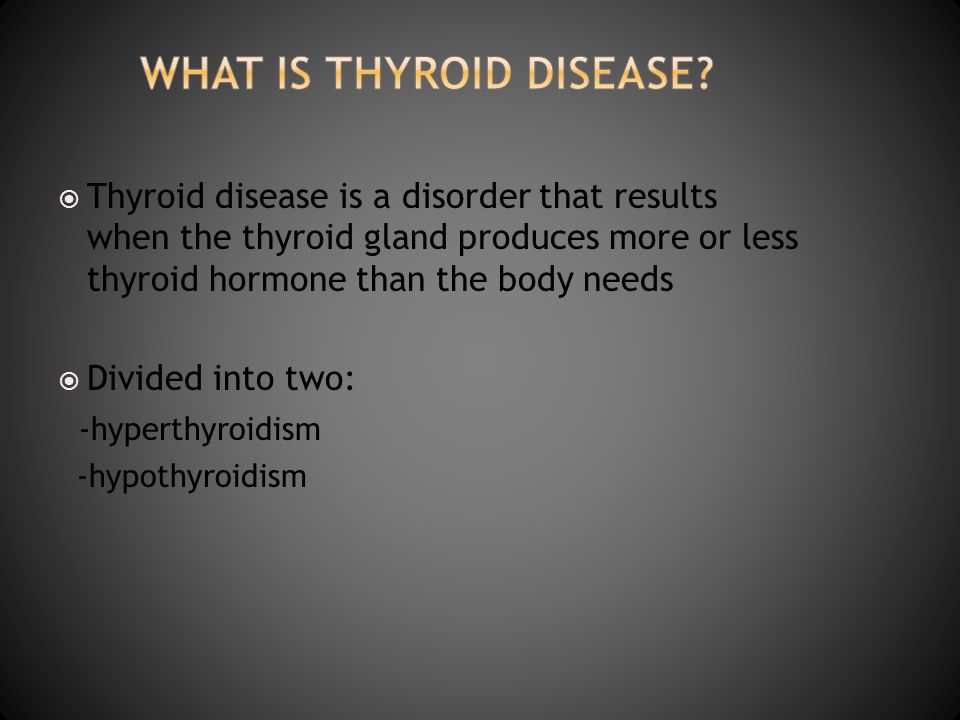 What is thyroid disease