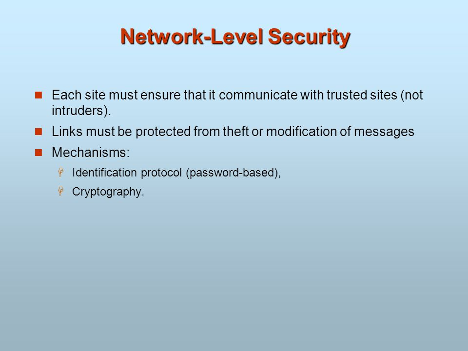 Network-Level Security