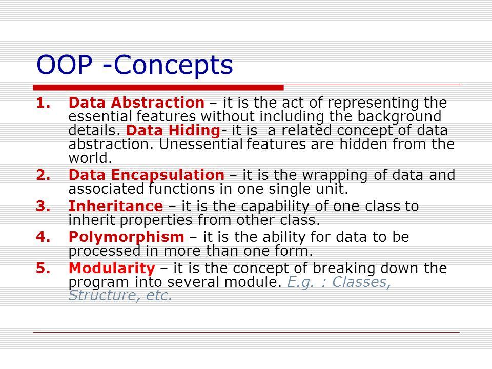 OOP -Concepts
