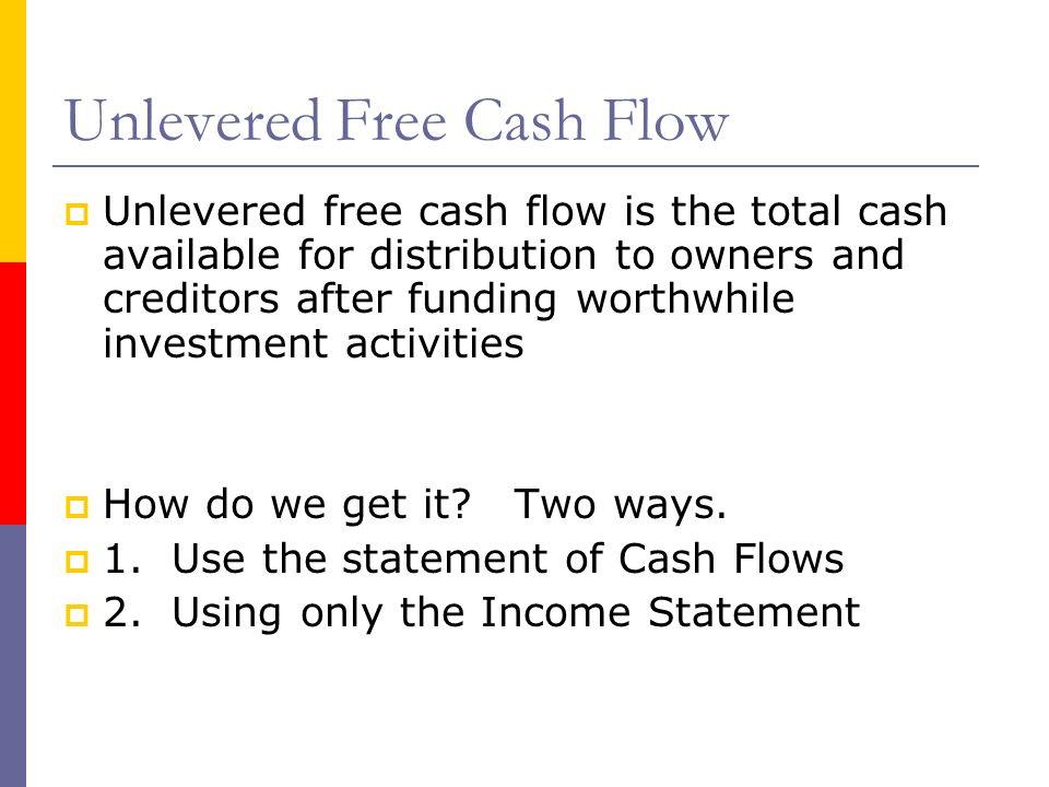 Unlevered Free Cash Flow
