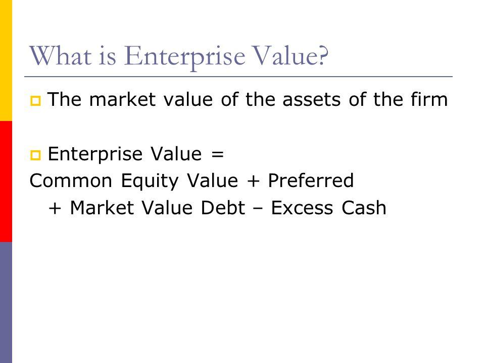 What is Enterprise Value