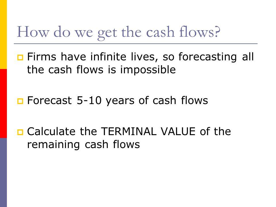 How do we get the cash flows