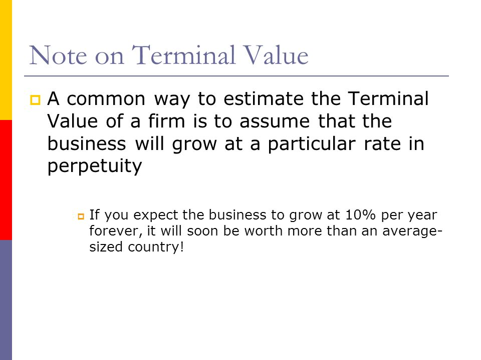Note on Terminal Value