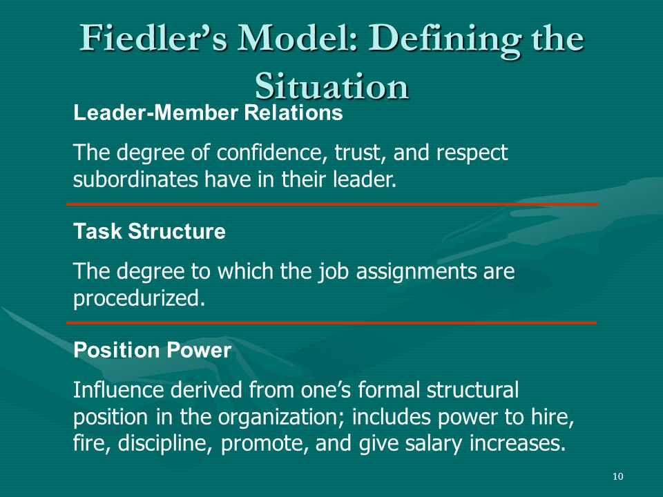 Fiedler's Model: Defining the Situation