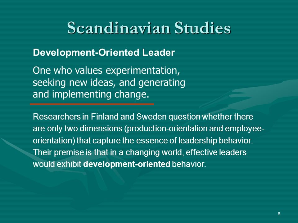 Scandinavian Studies Development-Oriented Leader