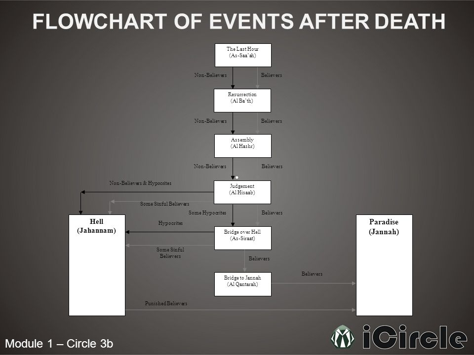 FLOWCHART OF EVENTS AFTER DEATH