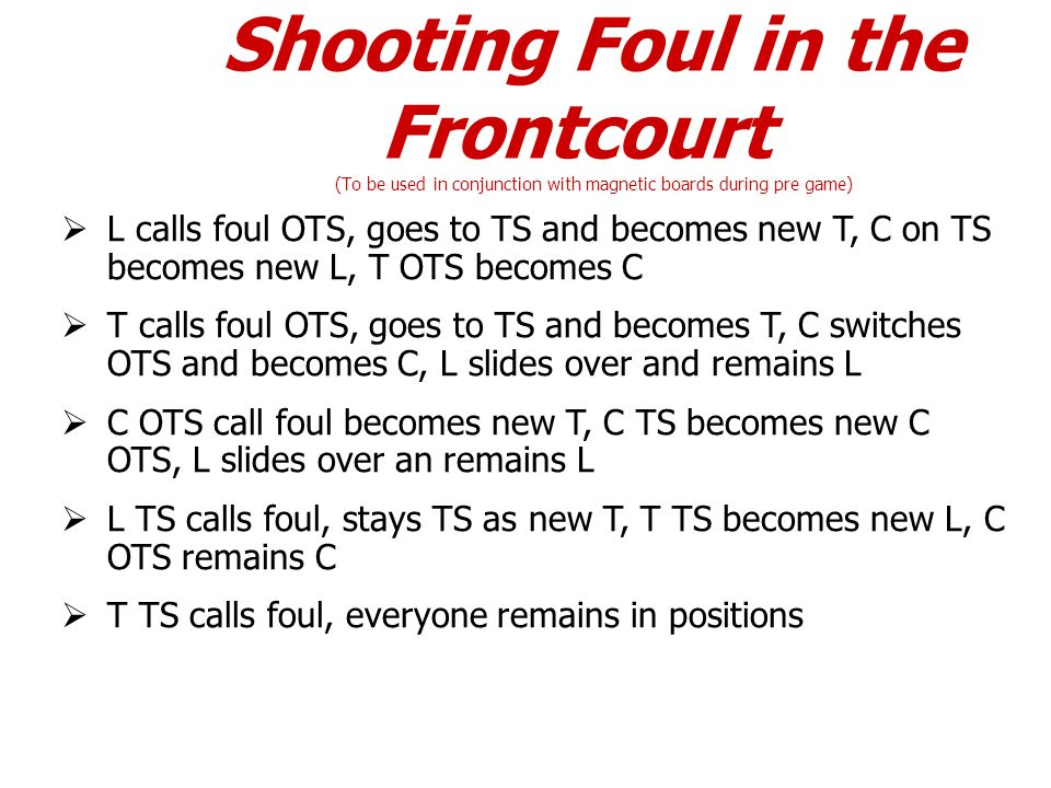 Shooting Foul in the Frontcourt