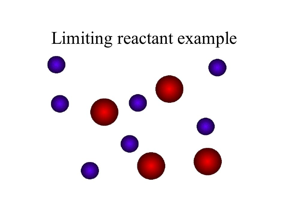 Limiting reactant example