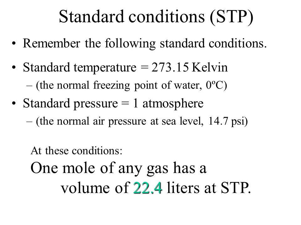 Standard conditions (STP)