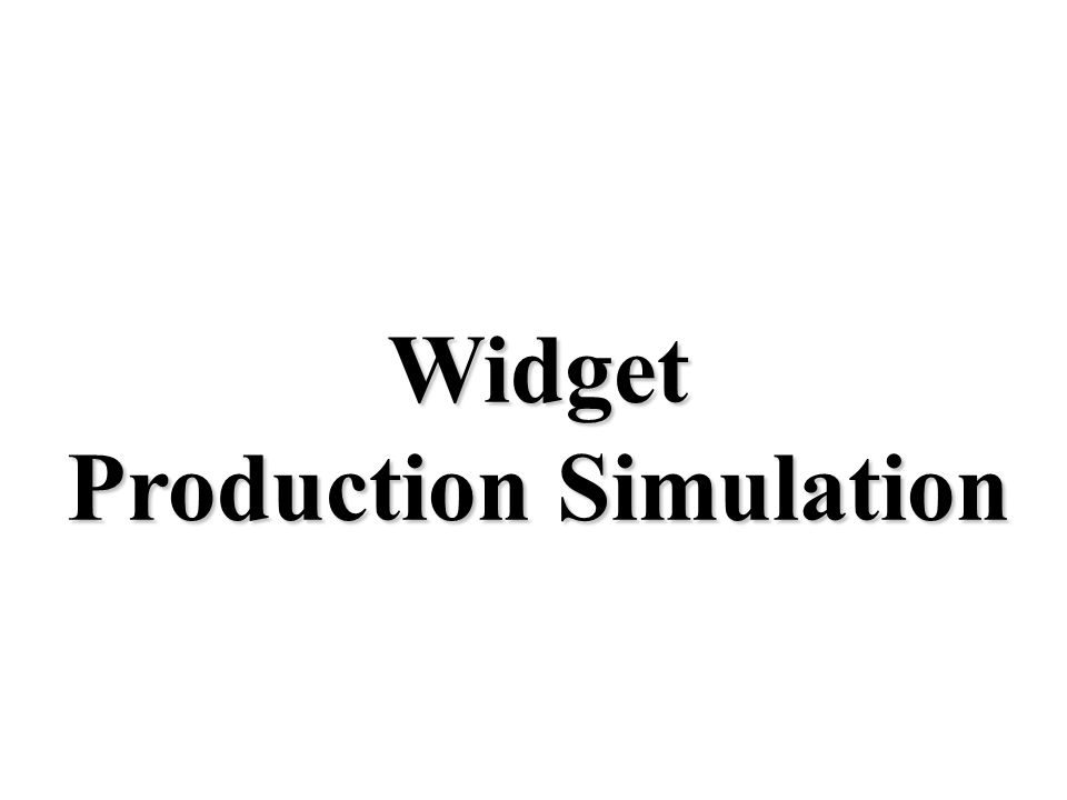 widget production paper The production and sale of x boxes widgets-part-a gives us the following profit function: p(x) = 380 x - x^2/100 - 420 for the month of december, the number of.